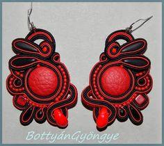 ÖrDög - aszimmetrikus sujtás fülbevaló / Devil - Asymmetric soutache earrings