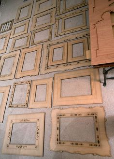 WANT! Laser cut wood frames ♥   via NOTCOT