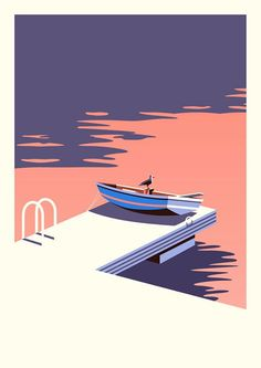 I love illustrations that use a minimal color palette