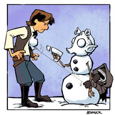 """Lil Kylo reminds his daddy, who was to shot him first. A """"Calvin and Hobes""""…"""