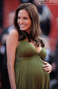 Well, if that isn't the prettiest pregnant lady I have ever seen… Look at Angelina Jolie ...