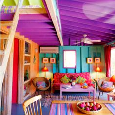 So in love with all the color in this house...