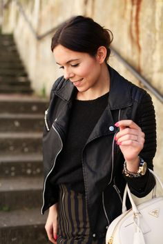 A black leather jacket is a wardrobe must have