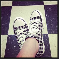 Plaid Converse