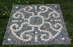 floral 2 pebble mosaic