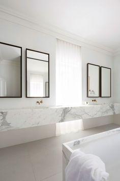 >>>Cheap Sale OFF! >>>Visit>> White marble bathroom by Smart Design Studio.Photo by Sharrin Rees. Bad Inspiration, Bathroom Inspiration, Interior Inspiration, Intelligent Design, Minimalist Bathroom, Modern Bathroom, Marble Bathrooms, Luxury Bathrooms, Bright Bathrooms