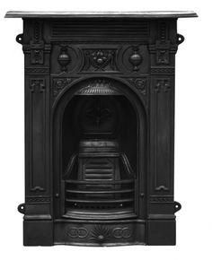Victorian Small Cast Iron Fireplace - Bedroom Fireplace Packages - Fireplace Packages - for our bedroom Cast Iron Fireplace Bedroom, Fireplace Suites, Small Fireplace, Stove Fireplace, Modern Fireplace, Fireplace Mantles, Fireplace Surrounds, Fireplace Ideas, Victorian Bedroom
