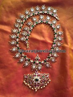 Silver Jewelry Silver Long Mango Mala - Jewellery Designs - Latest Collection of best Indian Jewellery Designs. Buy Gold Jewellery Online, 24k Gold Jewelry, 1 Gram Gold Jewellery, Clean Gold Jewelry, Silver Jewellery Indian, Sterling Silver Jewelry, Diamond Jewelry, Silver Ring, Mango Mala Jewellery