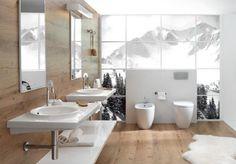 luxusní koupelny - luxusní obklady-imitace dřeva - domácí wellness koupelna
