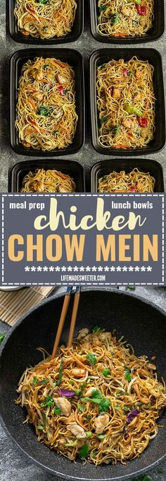 Chicken Chow Mein is the perfect easy weeknight meal! Best of all, it comes together in about 20 minutes in just one pot! Forget calling restaurant takeout, this recipe is so much better with authentic flavors. Seriously the best! Weekly meal prep for the week and leftovers are great for lunch bowls for work or school.