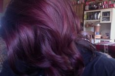 My new deep red hair color!! I love it!