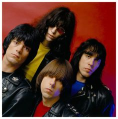 The Ramones End of the Century Album Cover Session by Mick Rock. Unfortunately, this was not the final End of the Century cover. On the final release, they were not wearing their jackets.
