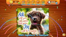 If you're looking for a simple and easy jigsaw puzzle app, check out the Daily Bible Jigsaw game from Planet 316. It is colorful, encouraging, and fun!  Free jigsaw puzzles daily, each with an encouraging Bible verse when you complete it.
