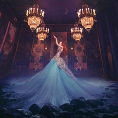 Cross-century couture in a magical, fine-art shoot at Belvoir Castle – Miss Aniela Fashion Shoot Experience