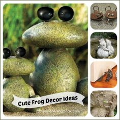Frogs in the Garden and Home - Cute Accents -
