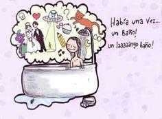 Imagen vía Facebook.com/Había una vez...un baño! Un laaaaargo baño!