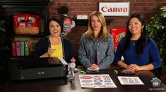 "In today's episode, Canon team members, Stephanie and Rita, join Kristine McKay to talk about why the 4th of July is one of their favorite holidays. Hosting the perfect patriotic party just got easier with today's Free Exclusive Printable.  And the Canon PIXMA iP8720 will give you a variety of decorating options because you can print up to 13""x19""."