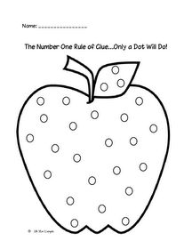 Only a dot will do glue lesson
