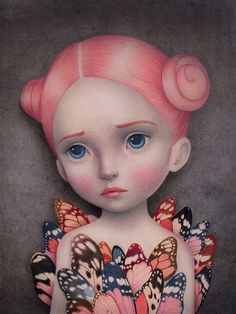 COCOON. Colored pencils & Acrylics. Available through Penumbra Gallery Raul Guerra