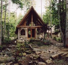 tiny cottage in the woods