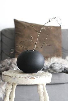 wood & black | living | interior styling. If you love rustic style, you should now that is a trend. Use it in your bedroom, bathroom, living room or dining area. See more home design ideas at www.homedesignideas.eu #contemporary #interiors