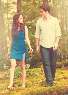 "Bella and Edward in ""Twilight Breaking Dawn part 2""....."