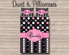 Custom Personalized Monogram Soft Duvet Cover OR Comforter Set