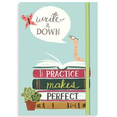 Bookworm Journal - GoneReading.com  So cute and the sayings will definitely brighten your day.