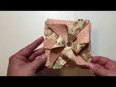 Pinwheel Card with Tutorial using Envelope Punch Board and My Sequin Storage - YouTube