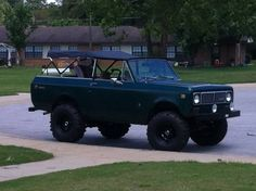 1975 International Scout II. This is a rare find. Great for a trail truck, mud truck, or whatever you want! Truck runs and drives good. Looks mean on the Super Swamper tires. No one else has one of these! This truck is completely convertible! Great for an easy project! $8000 obo
