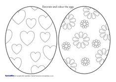 Easter Egg Colouring Sheets (SB1230) - SparkleBox