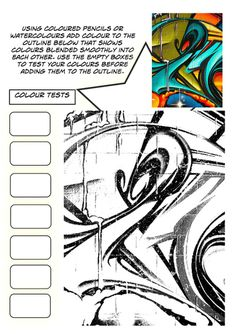 Set of 3 Graffiti Worksheets Art worksheets, Art handouts, Teaching art Art Sub Plans, Art Lesson Plans, High School Art, Middle School Art, Art Handouts, 8th Grade Art, Graffiti Lettering, Typography, Art Worksheets