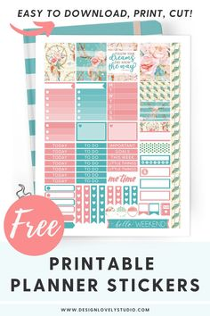 Create a beautiful Summer planner spread with this easy to use printable planner stickers kit. This kit comes with cut files and is formatted for EC Vertical, EC Horizontal and different Happy Planner sizes! Click on the image to get your FREE stickers now! #plannerstickers #printablestickers #happyplanner #designlovelystudio #freehappyplannerstickers #freeerincondrenstickers Free Planner, Happy Planner, Summer Planner, Planner Decorating, Printable Planner Stickers, Erin Condren Life Planner, Me Time, Sticker Design, Planner Layout