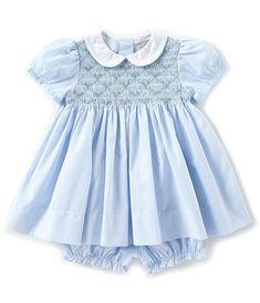 BABY GIRLS SPANISH STYLE SMOCKED DRESS GREEN SWING 6 9 12 18 24 MONTHS