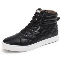 Men Boots Men winter boots Botas Hombre Fur Lace Up Warm Snow Boots For Men  2017 Fashion Winter Black Blue Yellow Shoes Size 44 Price  USD 3419f0126a4