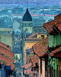 La Candelaria, Bogota, Colombia the colours look so intense. Trip To Colombia, Colombia Travel, Oh The Places You'll Go, Places To Travel, Places To Visit, Travel Destinations, Colombia South America, South America Travel, Ushuaia