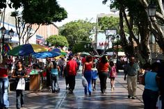 Image Detail for - busy street scene one of the walking only streets in downtown porlamar ...