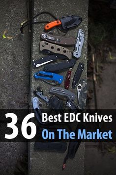 36 Best EDC Knives On The Market. What I love about this list is he broke them into the following categories: budget knives, lightweight knives, heavy-duty knives, tactical knives, framelock knives, fixed blade knives, leftie knives, and across-the-board knives. #EDC #Knives #Survival #Urbansurvivalsite