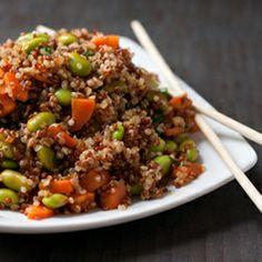 Warm Asian Quinoa Salad