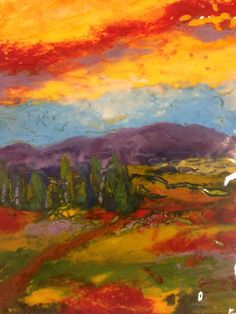 Anne Nye Glass artist, fused glass pallet knife painting with frit and powder. Amazing!