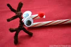 Candy Cane Reindeer Craft Tutorial