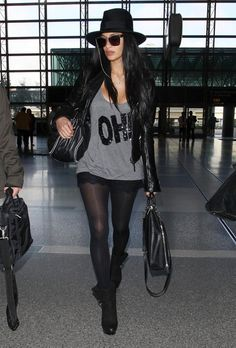 Nicole Scherzinger Arriving For A Flight At LAX