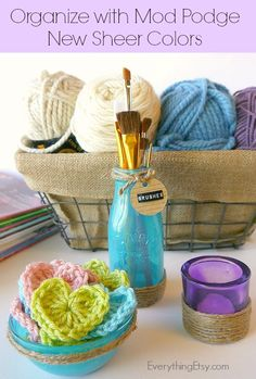 Organize With Mod Podge Sheer Colors - EverythingEtsy.com