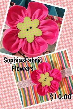 flower headband by Sophiasfabricflower on Etsy, $10.50
