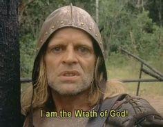 Klaus Kinski in Aguirre: The Wrath of God dir. Werner Herzog) Herzog on a… Hollywood Gossip, Old Hollywood, Cult Movies, Movies To Watch, Nastassja Kinski, Werner Herzog, Image Film, The Exorcist, Steven Spielberg