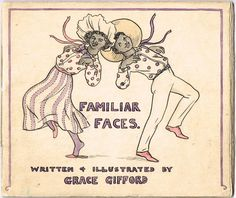 "Lot 204 - Grace Gifford Plunkett Familiar Faces"" hand drawn and coloured booklet. Easter Rising, Cursed Child Book, Booklet, Hand Drawn, Literature, How To Draw Hands, Auction, Faces, Writing"