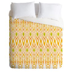 Amy Sia Ikat Tangerine Duvet Cover   DENY Designs Home Accessories