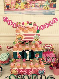 Shopkins birthday party! See more party ideas at CatchMyParty.com!