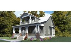 Craftsman House Plan with 2296 Square Feet and 3 Bedrooms from Dream Home Source | House Plan Code DHSW076058