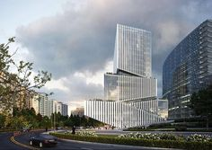 Form Architecture, Futuristic Architecture, Tower Building, Building Facade, Render Image, Industrial Park, Tower Design, Cambridge Street, Multi Story Building